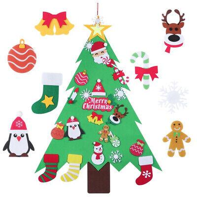 32PCS  Felt Christmas Tree DIY Hanging Ornaments Wall Decor for Kids Xmas Gift