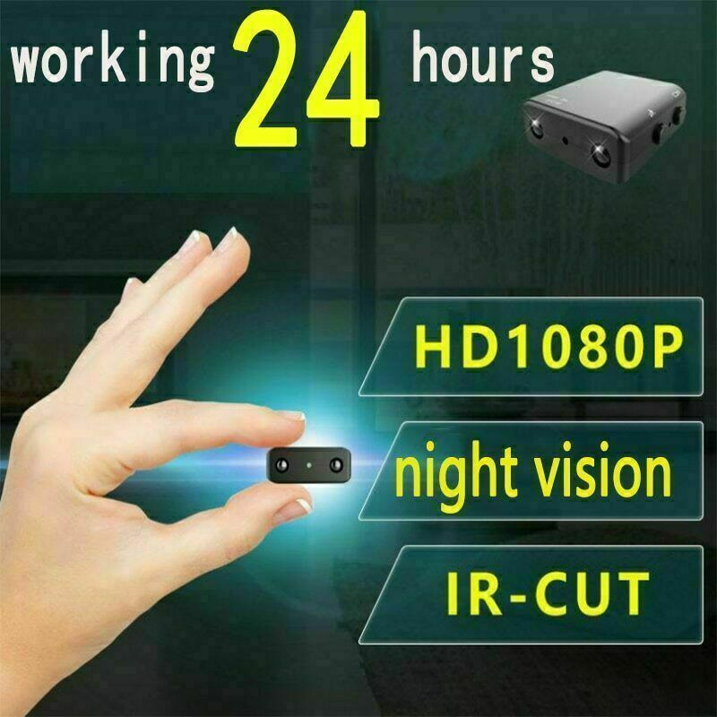1080P FULL HD Micro Mini Hidden Spy Camera HD Security Pinhole Cam Night Vision