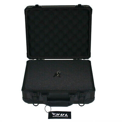 13in Aluminum Hard Case with Pelican 1400 Style Pluck Foam for Cameras Guns Lens ()
