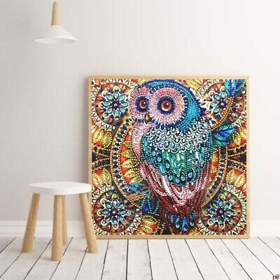 Owl DIY 5D Diamond Painting Embroidery Cross Craft Stitch Art Kit Home Decor UK