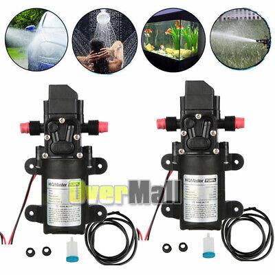 2 X 130psi 6lmin 70w Water High Pressure Diaphragm Self Priming Pump Kit Dc12v