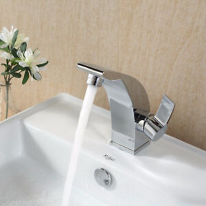 Kraus KEF-14701 - Chrome Single Lever Basin Faucet and Pop Up Dr
