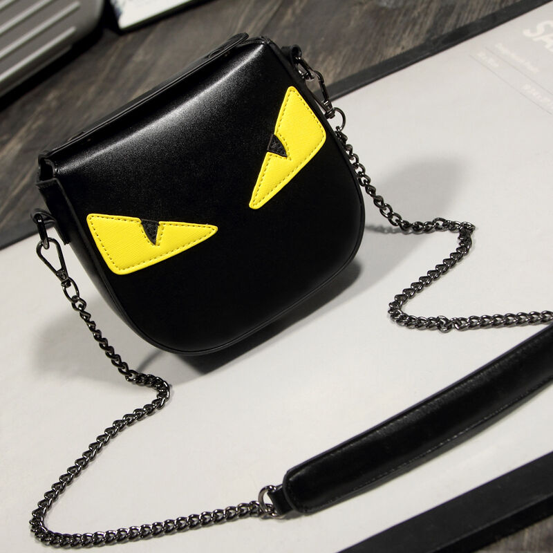 Fashion Style Handbag Mini Yellow Eye Monster Messenger Bags  Shoulder bag 2017