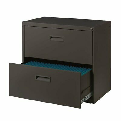 Hirsh 30 Wide 2 Drawer Lateral File Cabinet In Charcoal