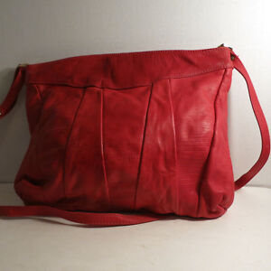 Leather Red Purse Handbag Bag by Leather by Mann Kitchener / Waterloo Kitchener Area image 2