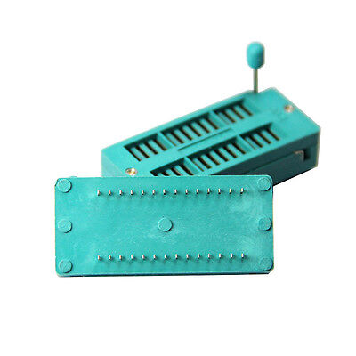 2pcs 28 Pin 2.54mm Universal Zif Test Dip Ic Socket For Diy