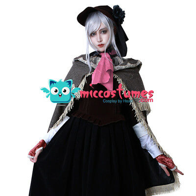 Bloodborne Doll Cosplay Costume With Hat Women Cloak Dress - Halloween Costumes With Capes