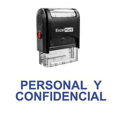 Personal Y Confidencial Stamp - Self-inking Blue