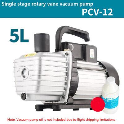 220v 760w Single Stage Vacuum Pump 10cfm 1hp Rotary Vane Deep Hvac Ac Air Tool