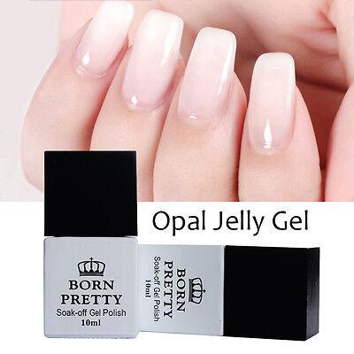 10ml BORN PRETTY Nail Art UV Gel Polish Opal Jelly Gel White Soak Off Varnish
