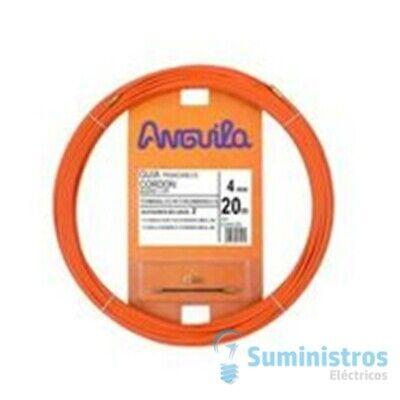 Guia Pasacables Anguila 60400020 4mm 20mt Cordon de Acero +Nylon Naranja