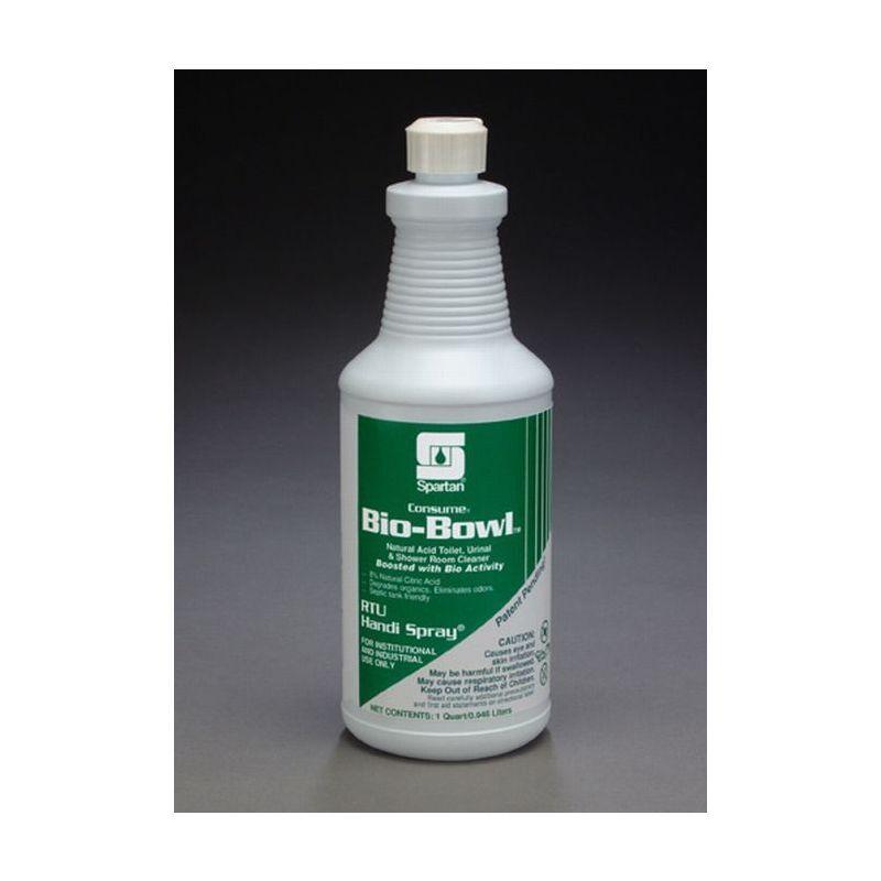 Spartan RTU Consume Bio-Bowl Bathroom Cleaner, Quarts, 12 Per Case