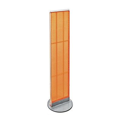 Orange Pegboard Floor Display Stand 13.5 W X 60 H Inches On Revolving Base