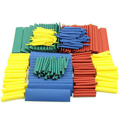 Assortment 21 Heat Shrink Tubing Tube Sleeving Wrap Wire Kit Set 8 Sizes New.