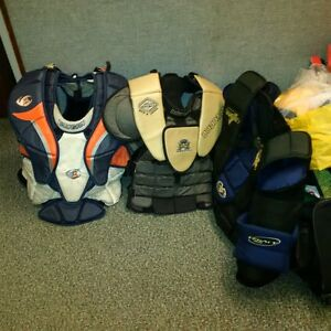 Goalie Chest Protectors and Skates for sale