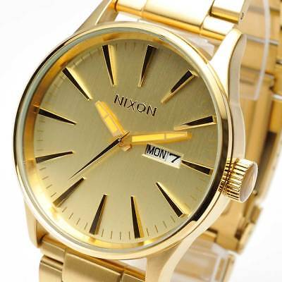 New NIXON Watch Mens the Sentry SS All Gold A356-502 A356502