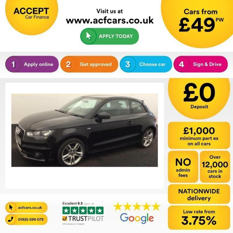 Audi A1 1.6TDI ( 105ps ) 2012MY S Line FROM £49 PER WEEK!