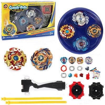 Metall Beyblade Burst Arena Set Gyro Kampf Gyroskop Launcher Spinning Spielzeug