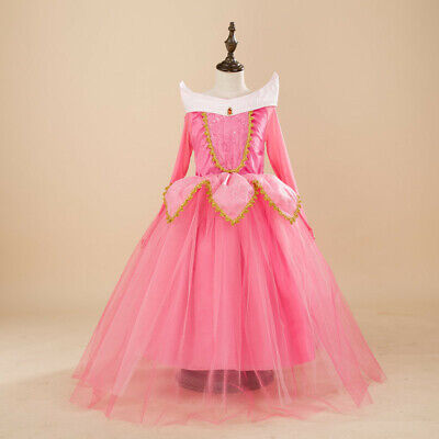 Kids Girl Sleeping Beauty Princess Aurora Cosplay Costume Party Fancy Dress - Kids Fancy Dress Costumes