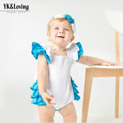 Alice In Wonderland baby Girl Fancy Romper Bodysuit Costume Halloween Outfit ](Alice Baby Costume)