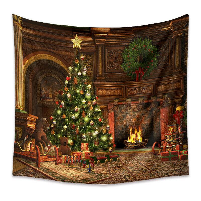 Tapestry Home Decor Wall Hanging Living Room Bedroom Christmas Fireplace Gift Y