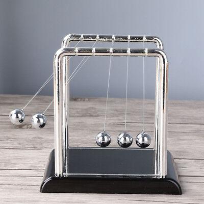 Newtons Cradle Fun Steel Balance Balls Physics Science Pendulum Desk Toy 20cm Gi