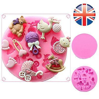 *UK Seller* Silicone Baby Bear Trojan Chocolate Fondant Sugarcraft Cake Mould