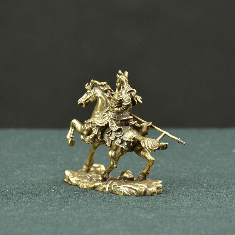 In ancient China consummate hero guan gong guan yu ride a horse statue