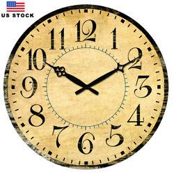 38 cm Large Wooden Wall Clocks Room Home Decor Silent Retro Clock Antique Clock