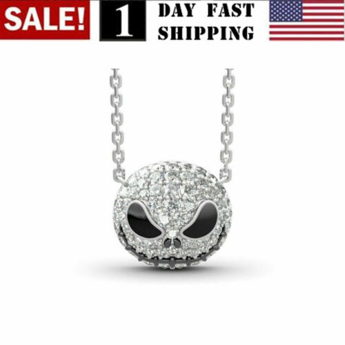 The Nightmare Before Christmas Skull Jack Necklace Crystal Pumpkin Pendant Fashion Jewelry