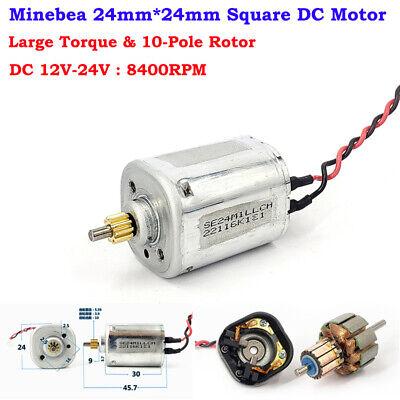 Minebea Mini 24mm Square Motor Dc 12v-24v 8400rpm Large Torque 10-pole Rotor Toy