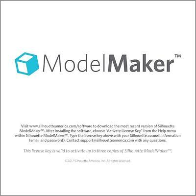 New!!  Model Maker 3D software for Silhouette  $50.00 value  FREE SHIP Free 3d Software