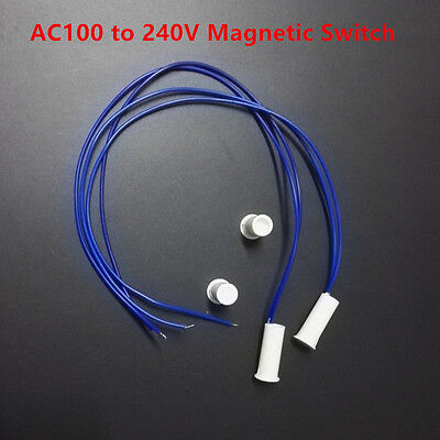 2x AC Power Electrical Magnetic Switch Sensor NO Reed Swtich for Light LED