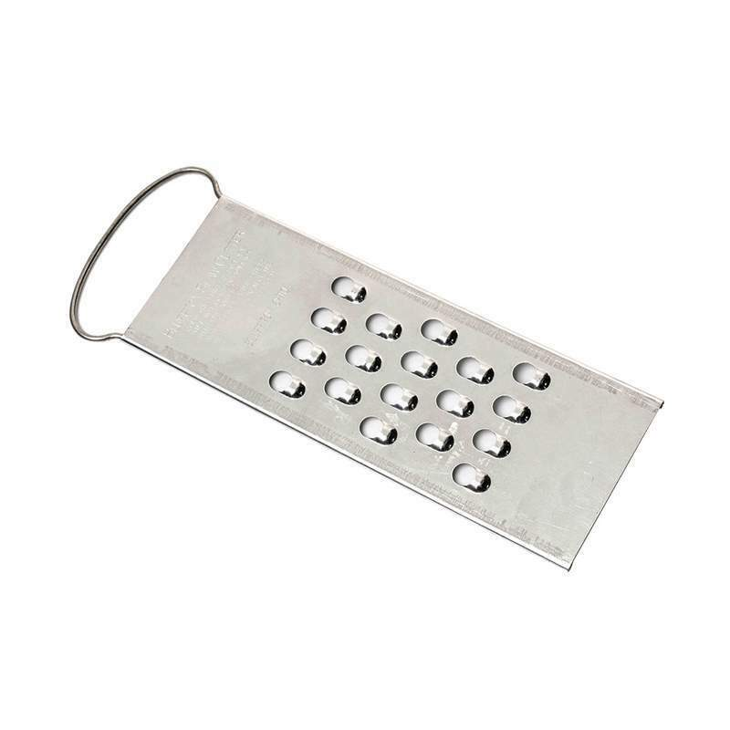 USA-Made Tin-Coated Steel Vegetable and Cheese Grater/Shredder - Extra Coarse