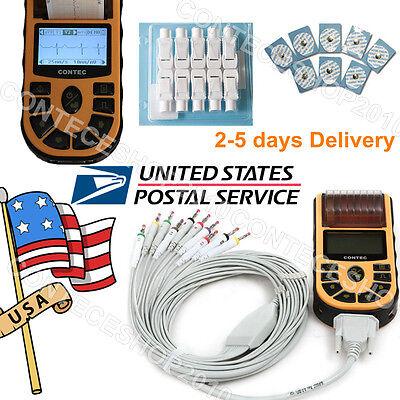Digital 1-channel Ecgekg Machine12 Lead Usb Cableswprinter Ecg80a