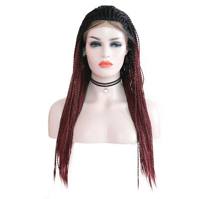 Micro Braids Wigs Synthetic Twist Braided Lace Front Wigs Baby Hair Wigs T1B/BUG (Bug Wig)
