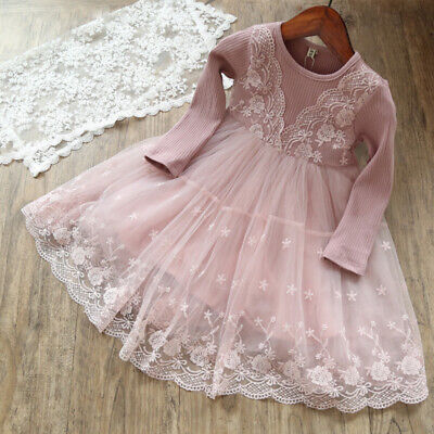 Party Dresses Kid (Baby Girl Dress Lace Princess Birthday Party Dresses Winter Children)