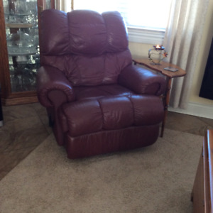 Lazy boy leather chair and leather reclining couch