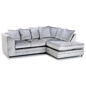 💯 New Crushed Velvet 3+2 Sofa set or Corner suite 😎