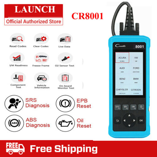 ABS SRS AIRBAG EPB Oil Reset LAUNCH Code Reader OBD2 Car Diagnostic Tool Scanner