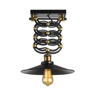 Antique Iron Semi Flush Ceiling Light Fixture Industrial Adjustable Pendant Lamp Antique Iron Semi Flush