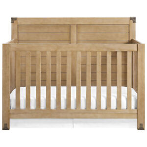 Baby Relax Ridgeline 4-in-1 Convertible Crib - Rustic Natural