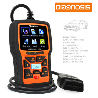 2020 Foxwell NT301 Auto Scanner Code Reader Car Check Engine