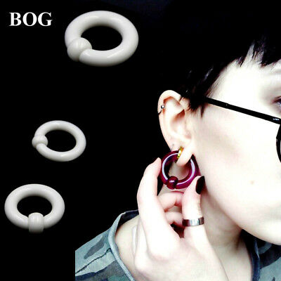 Big Large Giant Acrylic Captive Bead Ring Ear Tunnel Plug Guauge Piercing 2g 0g