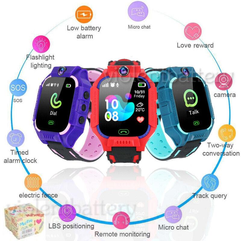 Anti-lost Kids Smart Watch SIM Card GPS Camera LBS Tracker S