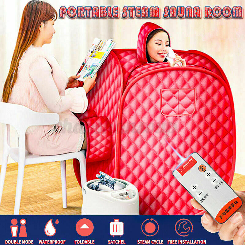 2L Portable Home Steam Sauna Spa Full Body Sauna Tent Loss Weight Detox Therapy Home & Garden