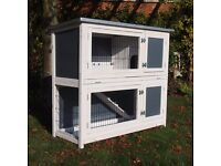 Large 2 Tier Easy Clean Rabbit/Guinea Pig Hutch