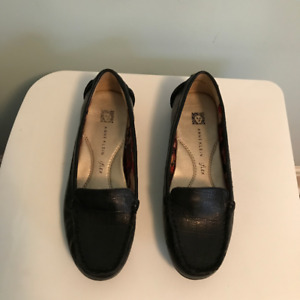 Anne Klein - Black Leather Loafers