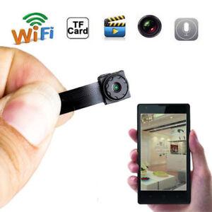 Wireless Hidden Spy Camera Mini Micro DVR Nanny WIFI Pinhole Portable Live Cam