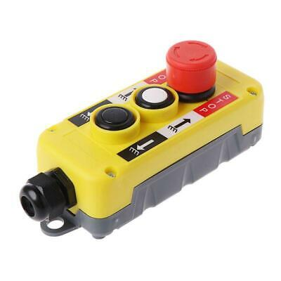 Industrial Push Button Switch Emergency Stop For Electric Crane Hoist Pendant